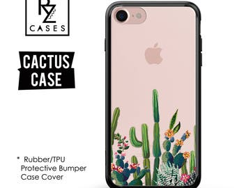 Cactus Phone Case, iPhone 7 Case, Phone Case Unique, iphone 6, Cactus iphone case, Gift for Her, iPhone 6s, Rubber, Bumper Case