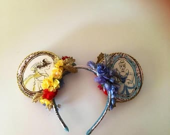 Beauty And The Beast Mouse Ears, Cinderella Mickey Ears, Snow White Mouse Ears, Inspired By Disney Princesses