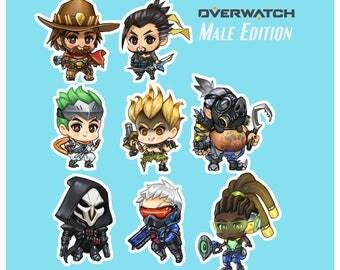 Overwatch  Stickers - Boi Edition