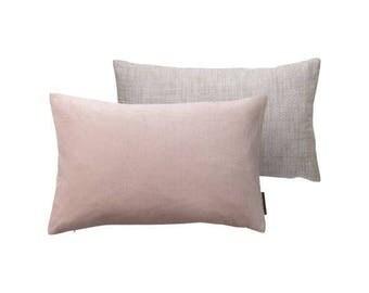 Powder velvet cushion