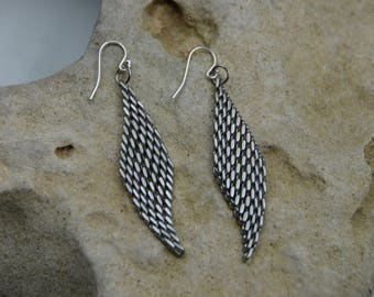 Sterling Silver Serpentine Drop Earrings