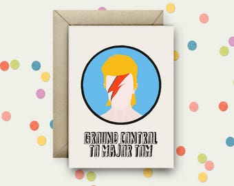 Bowie Pop Art and Quote A6 Blank Greeting Card with Envelope