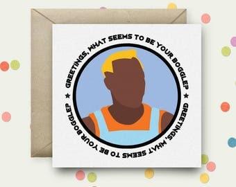 Demolition Man Square Pop Art Card & Envelope