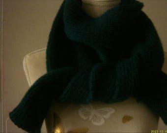 scarf for men, peacock blue
