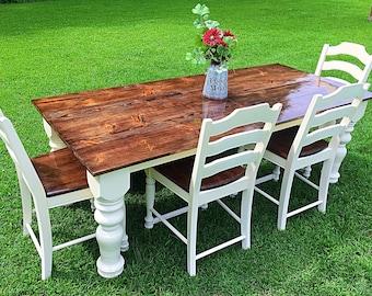 Sale Farmhouse Table, Country Table, Farm Table, Reclaimed Wood Table