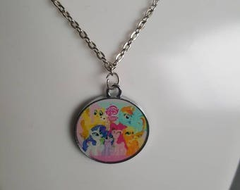 My little pony INSPIRED Necklace/keyring