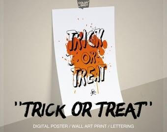 Outdoor Halloween decor Halloween printable Halloween Sign Front Door Decor Halloween Door Decor Halloween Home Decor Trick or Treat
