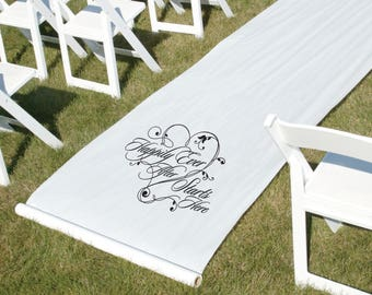 Wedding Aisle Runner- Happily Ever After