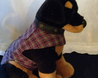 Red and Blue Plaid Pet Coat