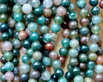 4mm Indian Agate beads, half strand, natural stone beads, round, 40004