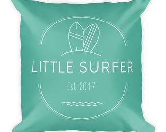Little Surfer square cover and pillow