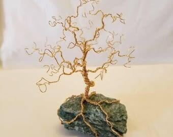 Bare gold tree