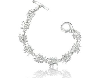 Fallen Sticks Bracelet - Sterling Silver Bracelet - Contemporary Bracelet - Women's Bracelet