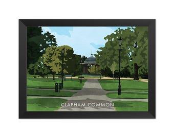 Clapham Common SW4 - Giclée Art Print - South London Poster