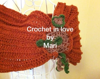 Hood, shoulder cover, knitted, stole, scarf, freeform, crochet, crochet, crochetinlove, handmade, hand made.
