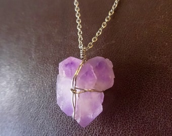Amethyst necklace, 925 Silver