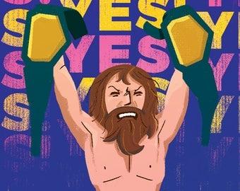 Daniel Bryan / Wrestling / Illustration / Art Print