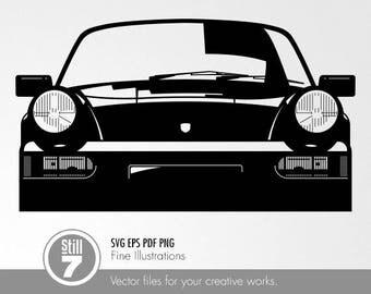 Porsche 911 Carrera 1990 svg eps png pdf