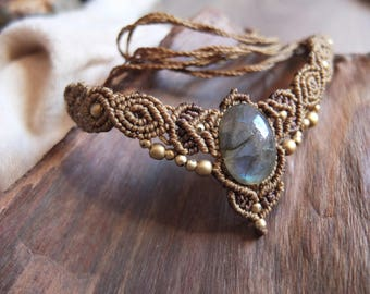 Diadem (or necklace) with Labradorite