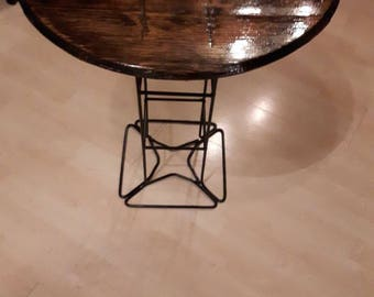 Whiskey Barrel Top Side Table