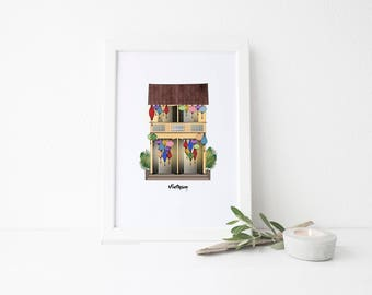 Vietnam Travel Art Print - Lantern Shop
