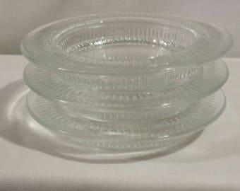 Vintage Glass Coasters Set of 3