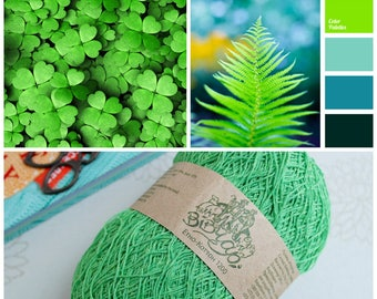 Green yarn Eco yarn Cotton yarn Linen yarn Summer yarn Crochet yarn Ethno-cotton 1200 Cotton linen yarn Premium yarn Baby yarn Lace yarn