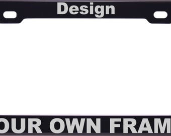 CUSTOM | Personalized Anodized ALUMINUM License Plate Frame | Laser Etched | FREE Caps | Variety of Colors