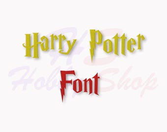 Harry Potter Machine Embroidery Font, Embroidery Designs Monogram Font, Monogram Alphabet, Instant Download, 9 sizes, #001