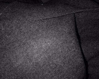 grey wool fabric sold per metre