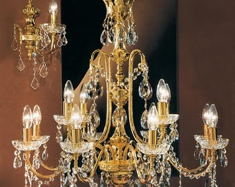 12 Lights chandelier-gold and Crystal Spectra-Luxury Collection