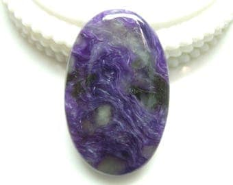 Charoite Oval Cabochon, 1 pec, Size- 41x26x6 MM, Natural Charoite , AAA,Quality  Loose Gemstone, Smooth Cabochons.