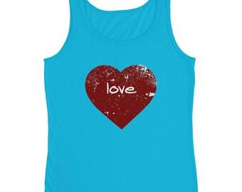 Ladies' Tank Valentine's Day Love Heart