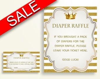 Diaper Raffle Baby Shower Diaper Raffle Royal Baby Shower Diaper Raffle Gold White Baby Shower Gold Diaper Raffle paper supplies Y9MQF