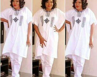 African women wear/ Embroidery wear/ African clothing/ African fashion/Agbada