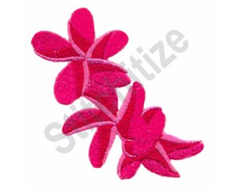 Plumeria Flowers - Machine Embroidery Design