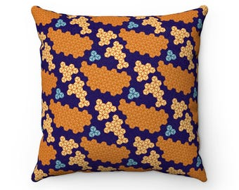 Mazecube Pattern Pillow  Faux Suede Square Pillow