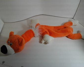 Long Orange Bear Weighted Lap Pet for calming Anxiety in kids with sensory issues