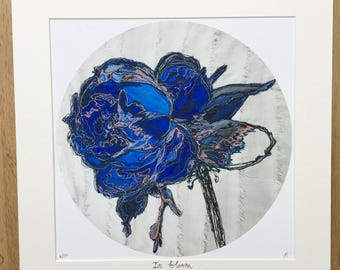 Textile Giclee Print / In bloom