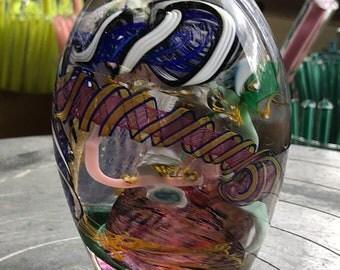 Blown Glass Paperweight.