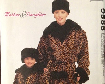 McCalls 9586: Mother & Daughter Coat