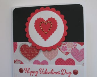 Sale - Handmade Heart Valentine's Day Card