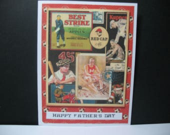Old Timer Baseball Father's Day Card, vintage,