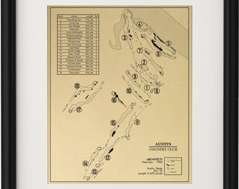 Austin Country Club Outline (Print)