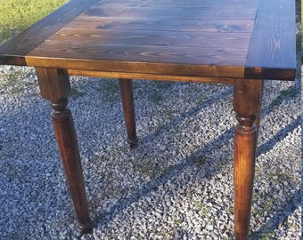 Handmade Rustic Square Tall Table