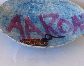 parsonolized paper   Machete bowl in blue