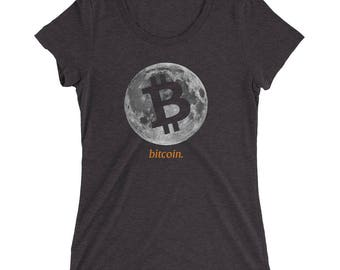 Bitcoin Cryptocurrency Digital Ladies' short sleeve t-shirt