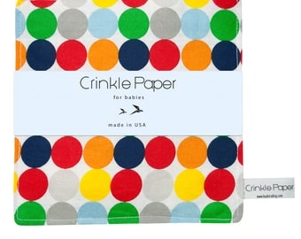 Crinkle Paper for Babies- Sensory Toy- Polka Dot- Baby's First Christmas- Relax and Soothes Babies- Baby Shower Gift- Coordination Toy