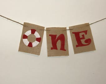 Nautical One Banner, Nautical I Am One