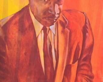 "Reyaz Nadi - Martin Luther King 17  ""StrenthtoLove"" Acrylic on canvas 48""x32"" Framed"